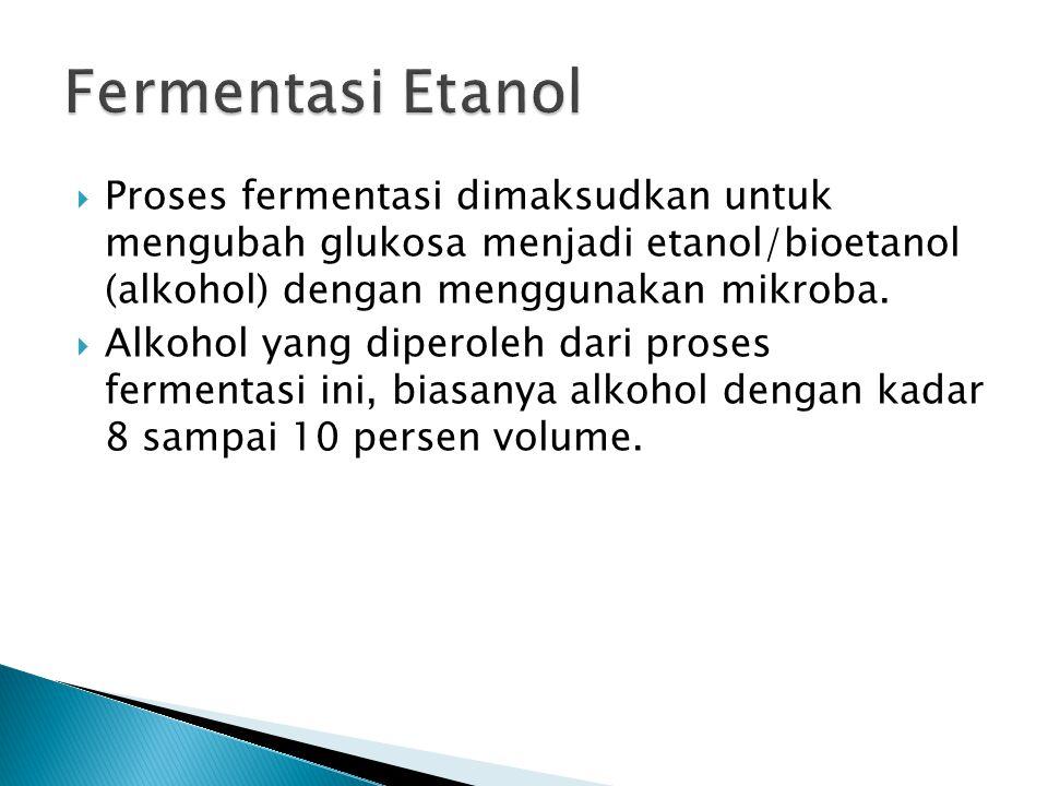  Etanol (CH 3 CH 2 OH) juga dikenal dengan nama etil- alkohol atau alkohol.