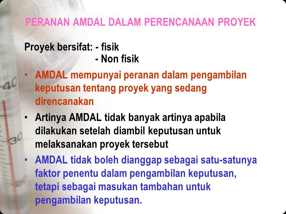 SIAPA YG HARUS MELAKUKAN AMDAL Pemrakarsa proyek Sebagai penyebab timbulnya pencemaran Maka yang harus menyelenggarakan AMDAL adalah pemrakarsa proyek
