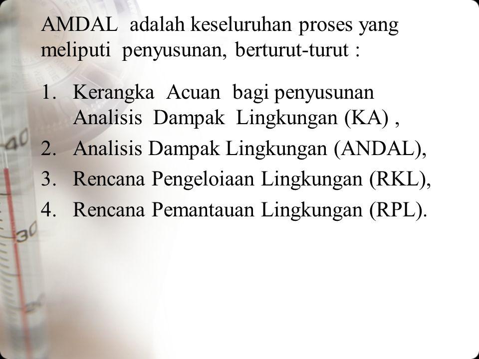 UPAYA MENINGKATKAN EFEKTIFITAS AMDAL 1.Menumbuhkan pengertian bahwa AMDAL bukan sbg penghambat pembangunan tetapi untuk menyempurnakan perencanaan pem