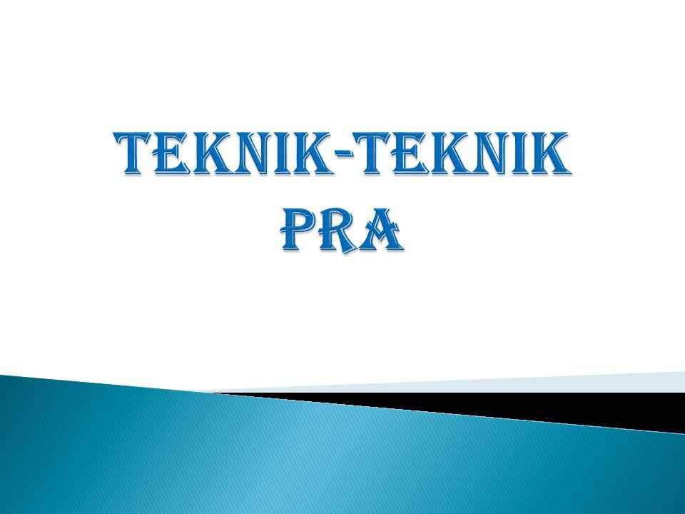 Diagram Venn Isu-Isu Utama Dari Diagram Venn: DKM (Dewan Keluarga Masjid) PPL, Aparat Pemerintah, Tengkulak adalah lembaga/pihak yang dekat dg masyarakat P3A kurang dekat dengan masyarakat CONTOH HASIL PRA