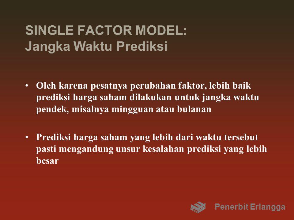SINGLE FACTOR MODEL: Jangka Waktu Prediksi Oleh karena pesatnya perubahan faktor, lebih baik prediksi harga saham dilakukan untuk jangka waktu pendek,
