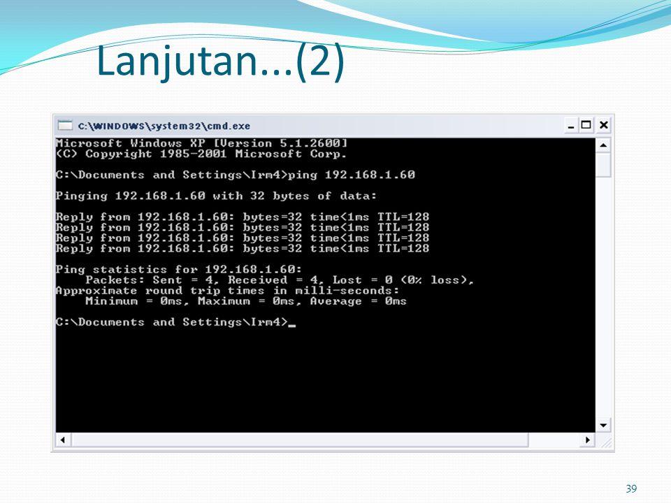 40 Pengukuran TraceRoute Mekanisme traceroute digunakan untuk mendapatkan informasi tentang jalur yang dilaluinya berdasarkan TTL (Time to Live) Traceroute dilakukan untuk pengukuran performansi jaringan berdasarkan parameter bandwidth, latensi dan rugi-rugi data