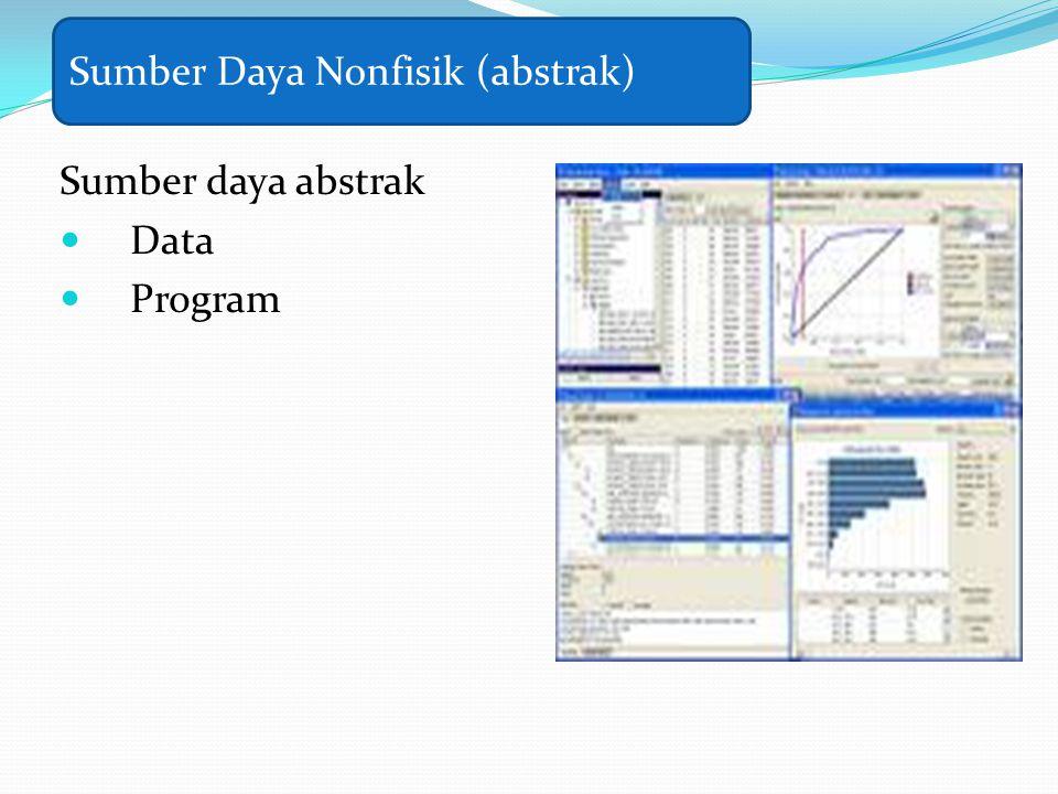 Sumber daya abstrak Data Program Sumber Daya Nonfisik (abstrak)