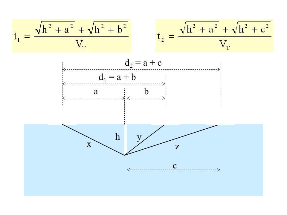 a d 1 = a + b d 2 = a + c h x y z b c