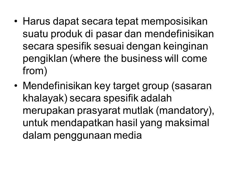 2.Media Strategy Menentukan media yang akan digunakan.
