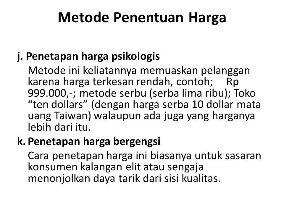 Metode Penentuan Harga j.