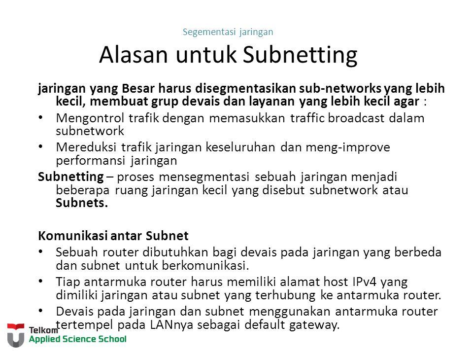 Subnetting jaringan IPv4 IP Subnetting is FUNdamental
