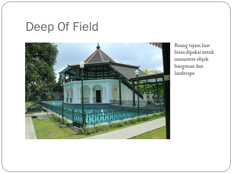 Deep Of Field Ruang tajam luas biasa dipakai untuk memotret objek bangunan dan landscape