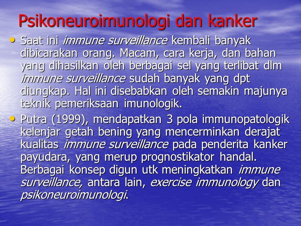 Psikoneuroimunologi dan kanker Saat ini immune surveillance kembali banyak dibicarakan orang. Macam, cara kerja, dan bahan yang dihasilkan oleh berbag
