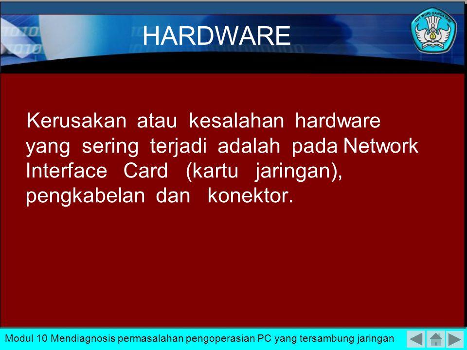Permasalahan yang sering muncul baik dalam pemasangan maupun setelah pemasangan jaringan LAN komputer secara garis besar dapat dibagi atas: –Kerusakan