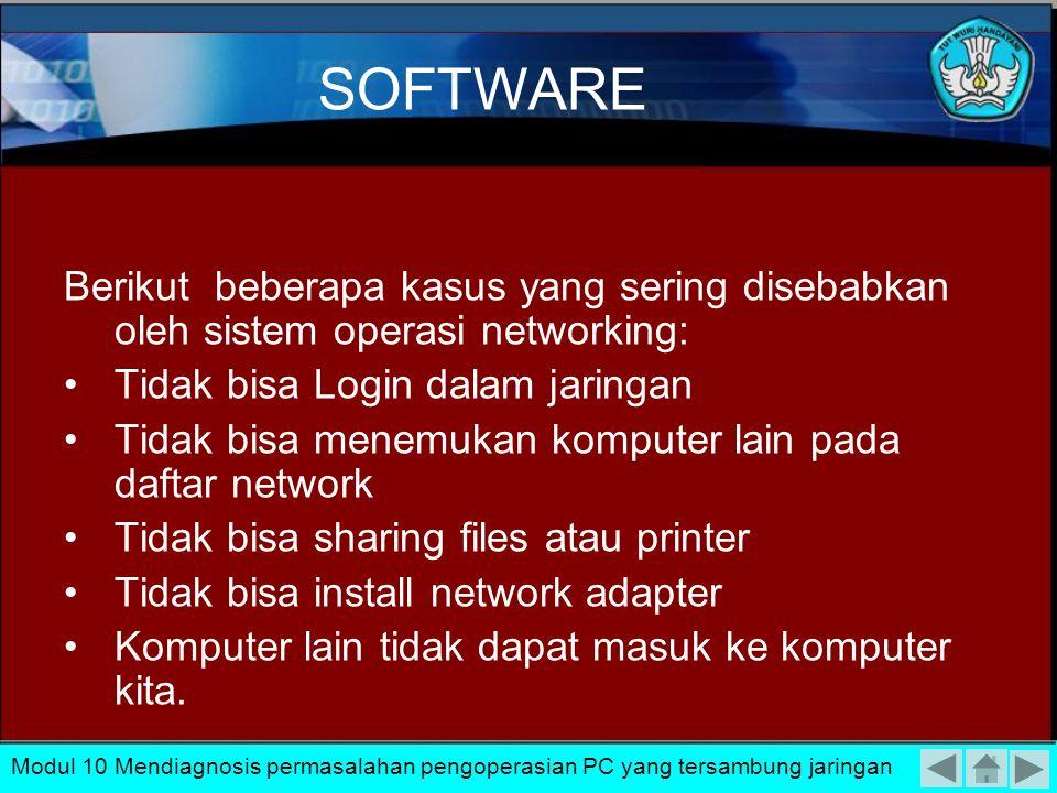 Untuk dapat melakukan perbaikan dalam kesalahan-kesalahan software tersebut dapat dilakukan dengan setting ulang software sesuai dengan ketentuan dala
