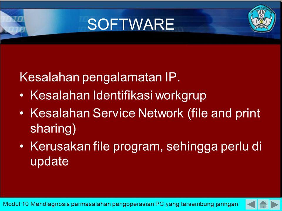 Pengisolasaian Protocol yang digunakan harus ditentukan pada saat instalasi software Kartu jaringan. Seperti pada contoh penggunakanproto col TCP/IP.