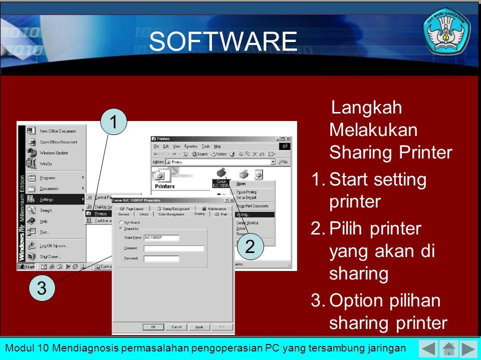 Untuk dapat melakukan perbaikan dalam kesalahan- kesalahan software tersebut dapat dilakukan dengan setting ulang software sesuai dengan ketentuan dal
