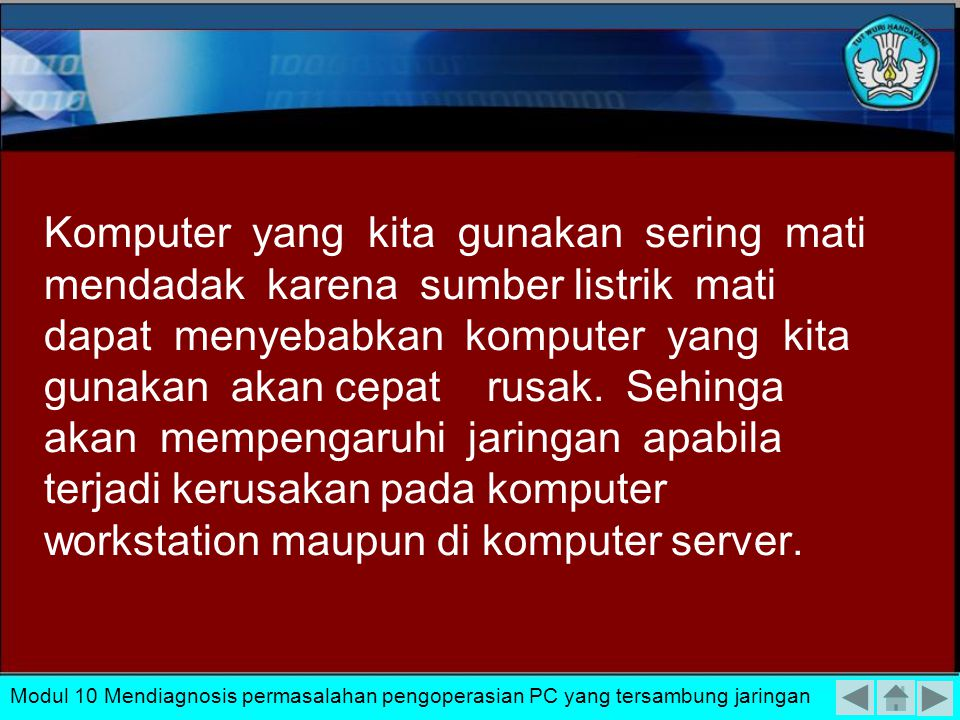 Permasalahan yang sering muncul pada bagian software ini pada umumnya bisa dikelompokkan : Kesalahan setting konfigurasi jaringan Kesalahan Protocol yang digunakan Kesalahan pengalamatan IP.