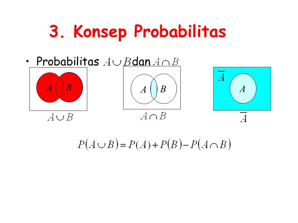 3. Konsep Probabilitas Probabilitas dan A B A B A