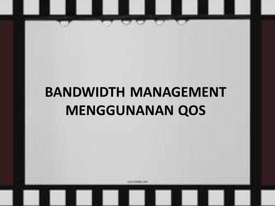 CLASS BASED QUEUE (CBQ) Teknik klasifikasi paket data yang paling terkenal adalah CBQ, mudah dikonfigurasi, memungkinkan sharing bandwidth.