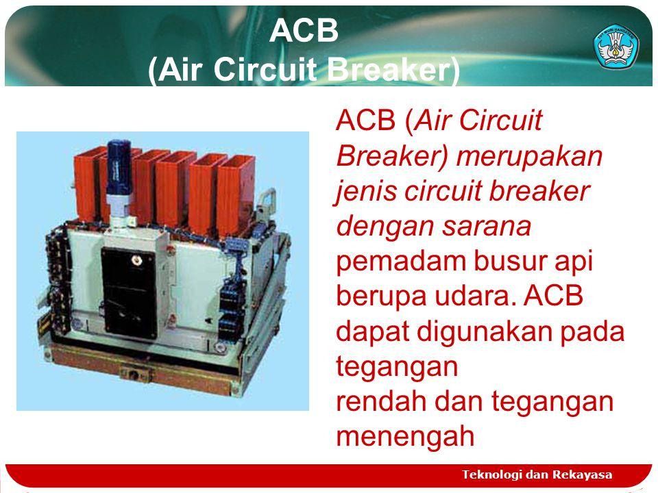 ACB (Air Circuit Breaker) Teknologi dan Rekayasa ACB (Air Circuit Breaker) merupakan jenis circuit breaker dengan sarana pemadam busur api berupa udar