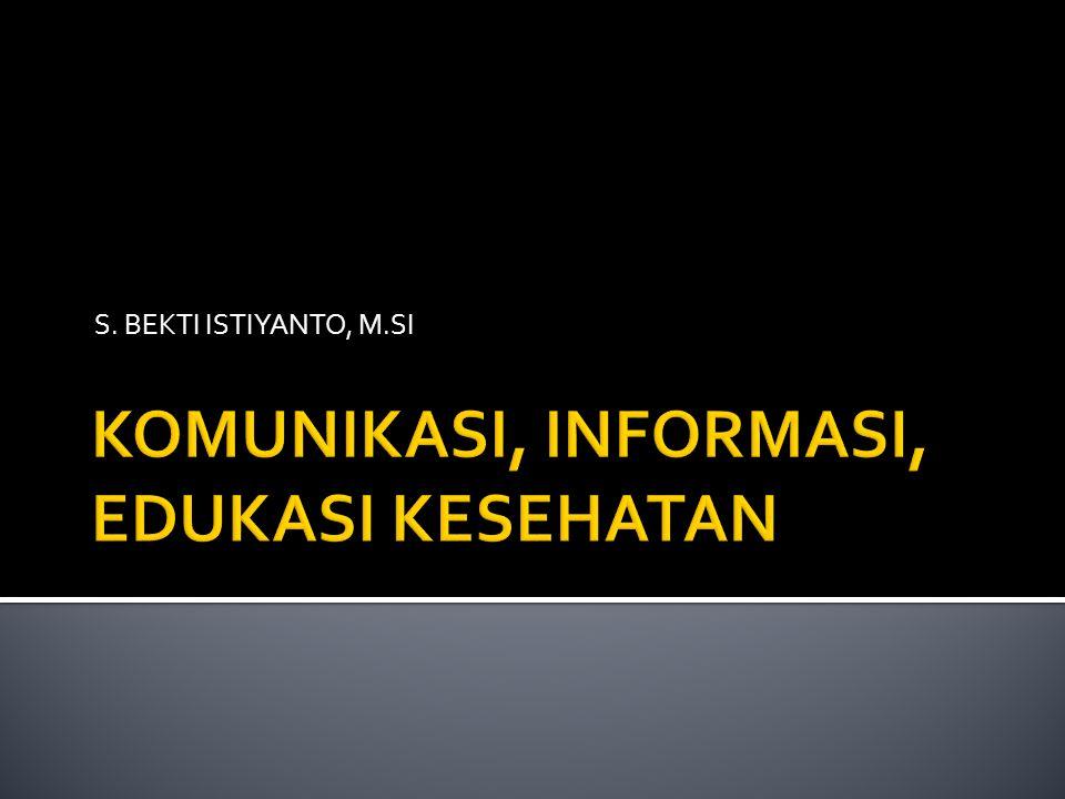S. BEKTI ISTIYANTO, M.SI