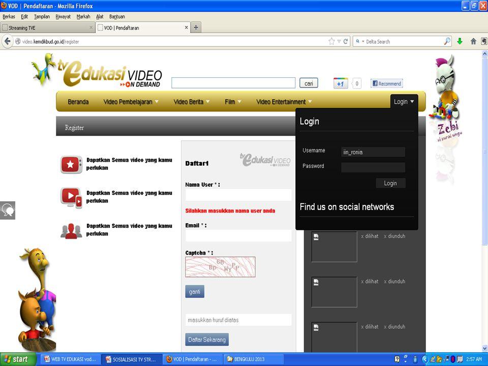 DOWNLOAD Dari VOD TV EdukasiDari VOD TV Edukasi CONVERTING Konvert dari MP4 ke WMVKonvert dari MP4 ke WMV Menggunakan Software Video ConverterMenggunakan Software Video Converter EDITING Atur DurasiAtur Durasi Tampilkan yang benar-benar diperlukan.Tampilkan yang benar-benar diperlukan.