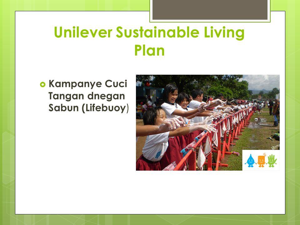 Unilever Sustainable Living Plan  Kampanye Cuci Tangan dnegan Sabun (Lifebuoy )