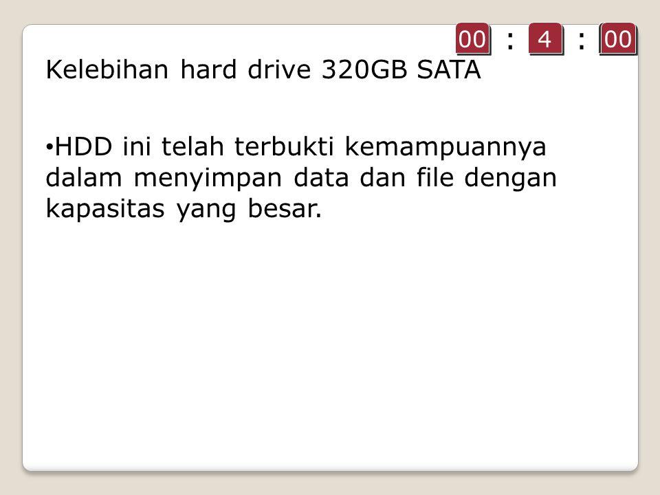 HDD ini telah terbukti kemampuannya dalam menyimpan data dan file dengan kapasitas yang besar.