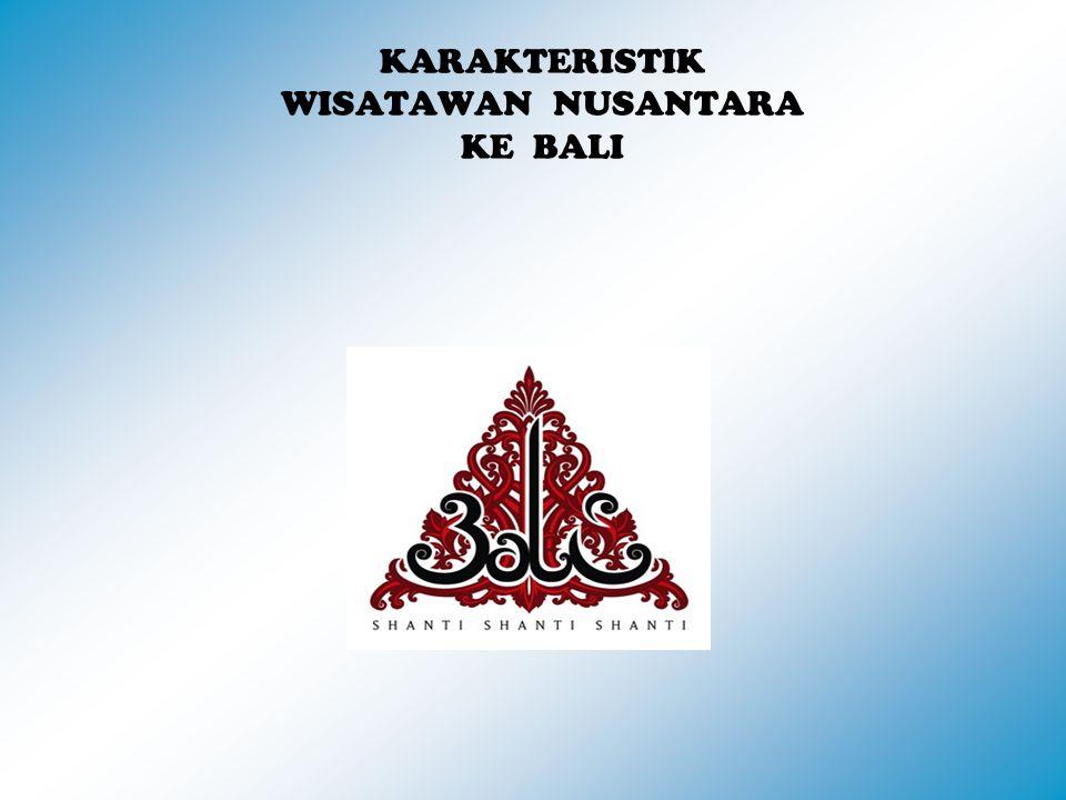 KARAKTERISTIK WISATAWAN NUSANTARA KE BALI