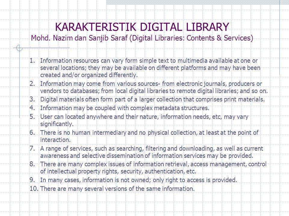 KARAKTERISTIK DIGITAL LIBRARY Mohd.