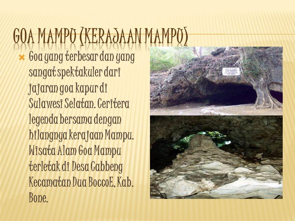 GGoa yang terbesar dan yang sangat spektakuler dari jajaran goa kapur di Sulawesi Selatan.