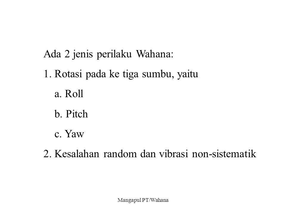 Mangapul PT/Wahana Ada 2 jenis perilaku Wahana: 1.