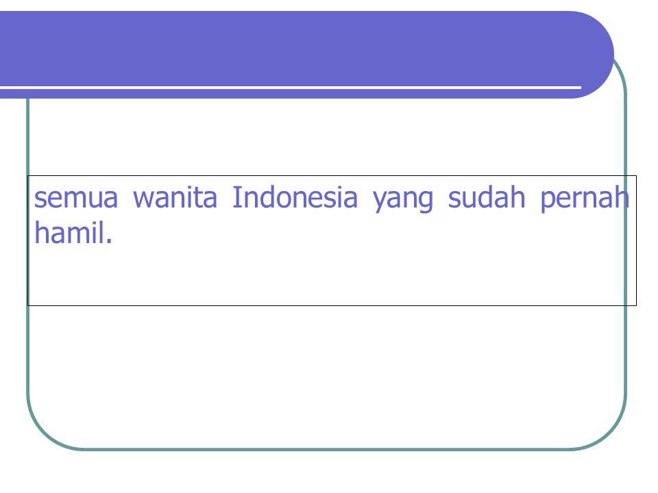 semua wanita Indonesia yang sudah pernah hamil.