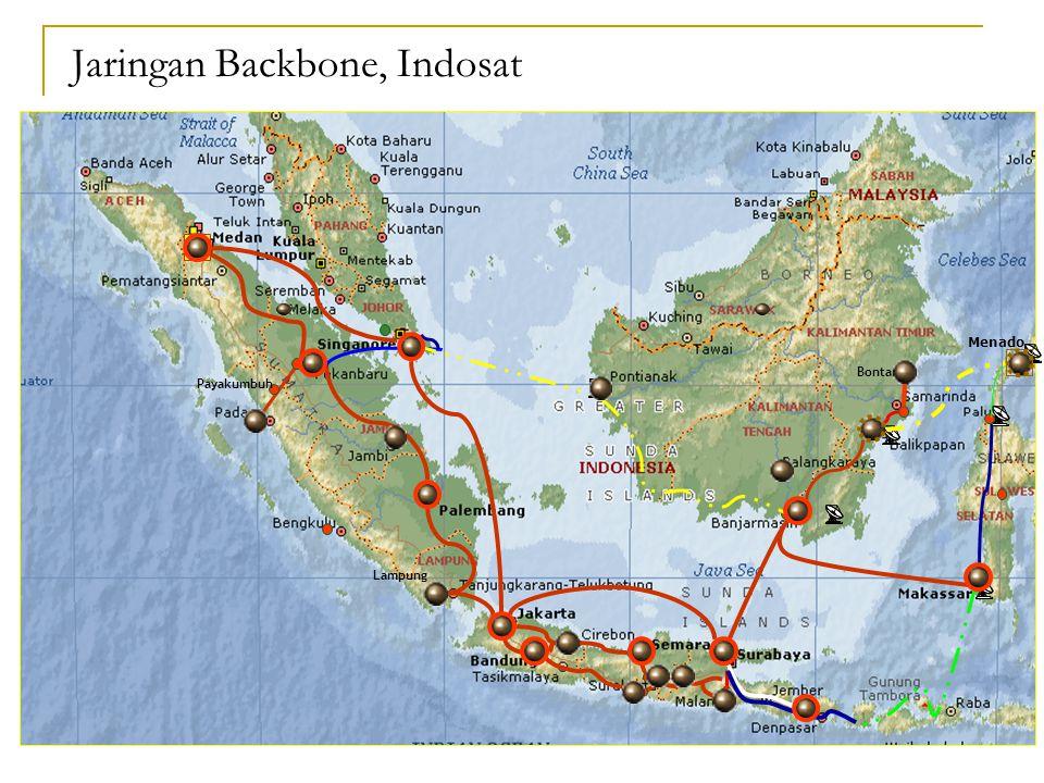 Menado Lampung Payakumbuh Bontang Jaringan Backbone, Indosat