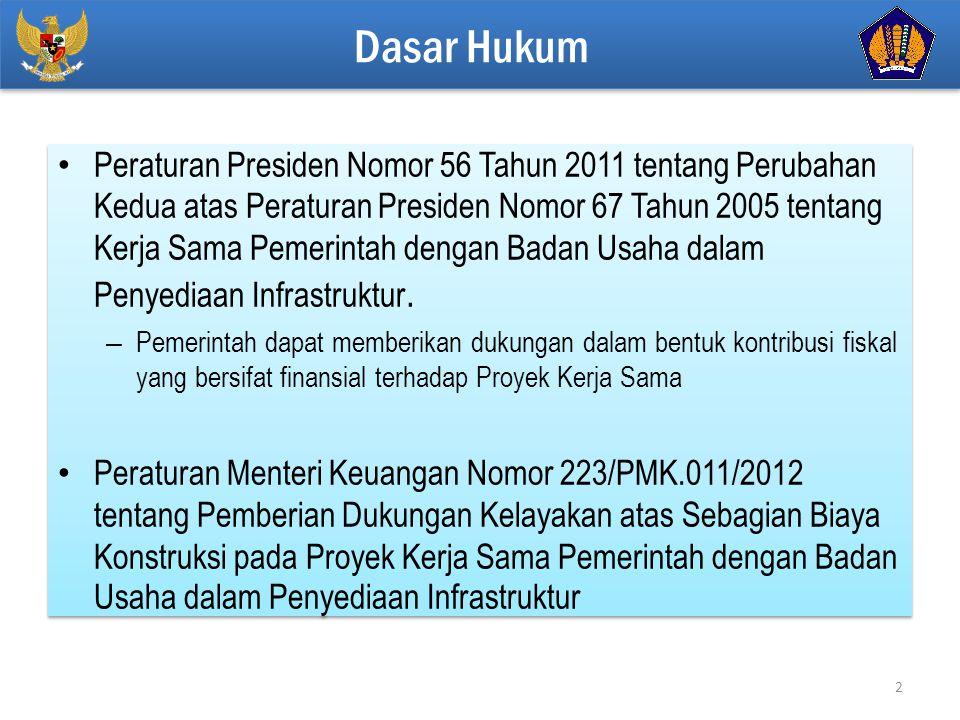 Click to edit Master title style Peraturan Presiden Nomor 56 Tahun 2011 tentang Perubahan Kedua atas Peraturan Presiden Nomor 67 Tahun 2005 tentang Kerja Sama Pemerintah dengan Badan Usaha dalam Penyediaan Infrastruktur.