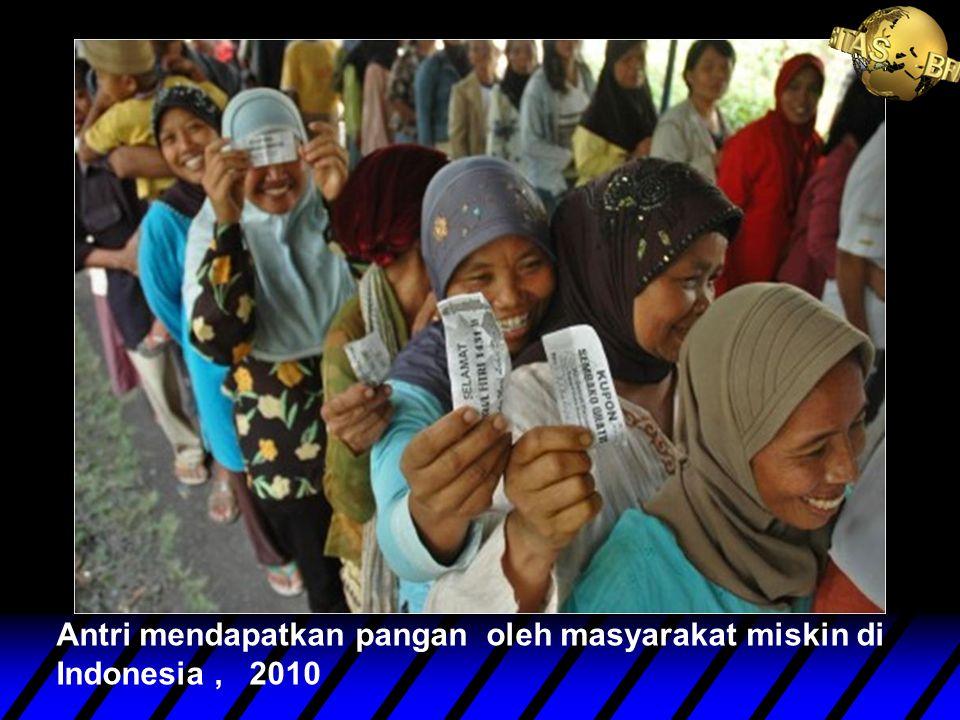 Antri mendapatkan pangan oleh masyarakat miskin di Indonesia, 2010
