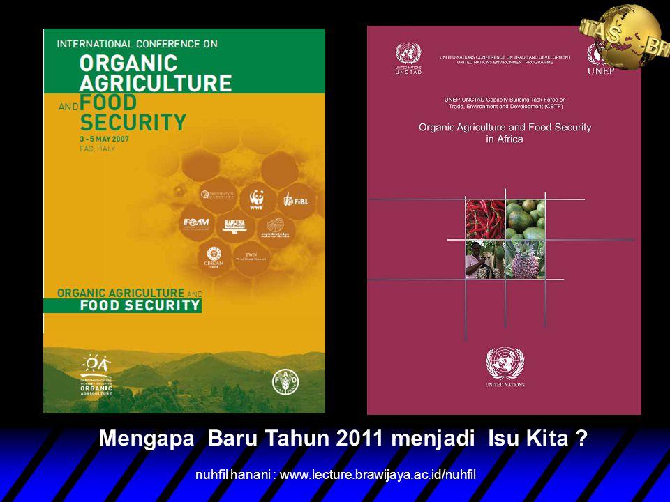 Nuhfil Hanani Pokja Ahli Dewan Ketahanan Pangan Nasional Dosen Universitas Brawijaya Malang 2011 PERTANIAN ORGANIK DAN KETAHANAN PANGAN