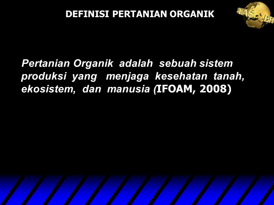 PERTANIAN ORGANIK nuhfil hanani : www.lecture.brawijaya.ac.id/nuhfil