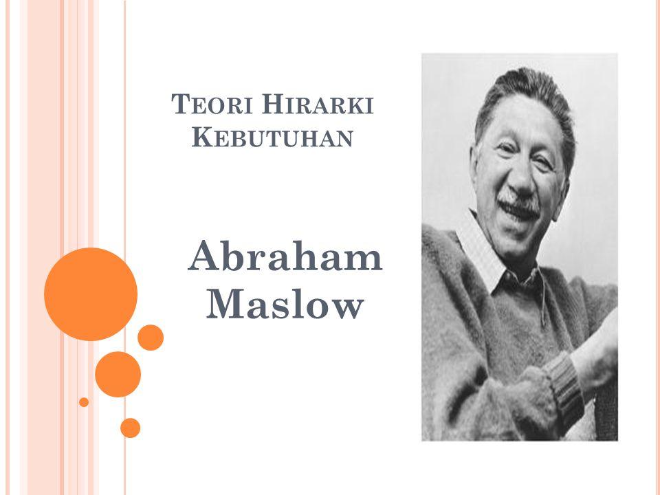 T EORI H IRARKI K EBUTUHAN Abraham Maslow