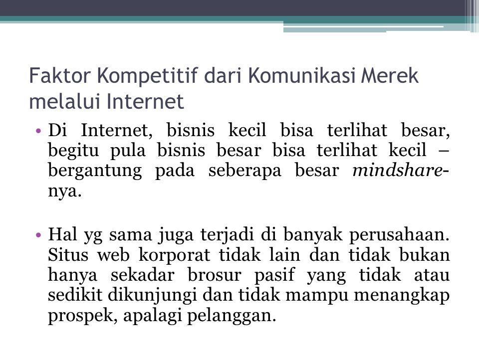 Faktor Kompetitif dari Komunikasi Merek melalui Internet Di Internet, bisnis kecil bisa terlihat besar, begitu pula bisnis besar bisa terlihat kecil –