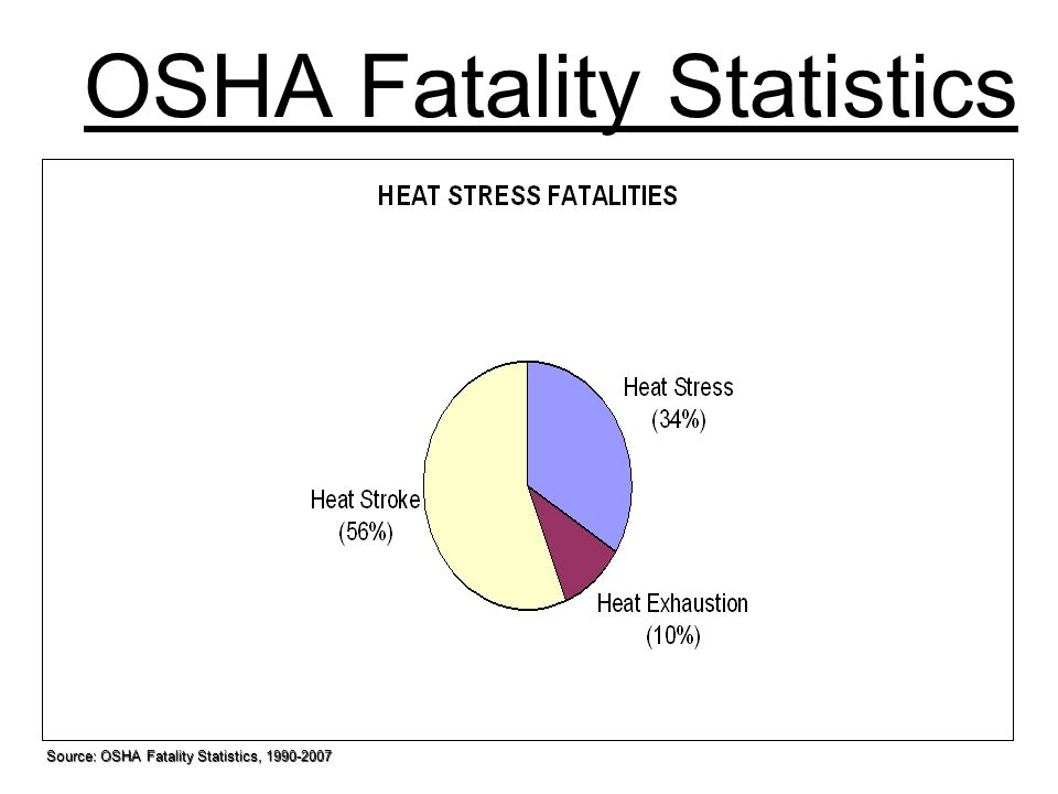 OSHA Fatality Statistics Source: OSHA Fatality Statistics, 1990-2007