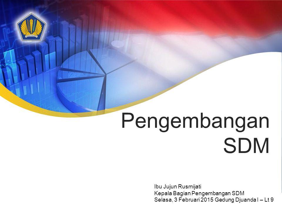Pengembangan SDM Ibu Jujun Rusmijati Kepala Bagian Pengembangan SDM Selasa, 3 Februari 2015 Gedung Djuanda I – Lt 9