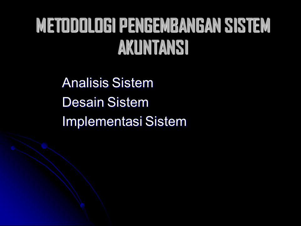 METODOLOGI PENGEMBANGAN SISTEM AKUNTANSI Analisis Sistem Desain Sistem Implementasi Sistem