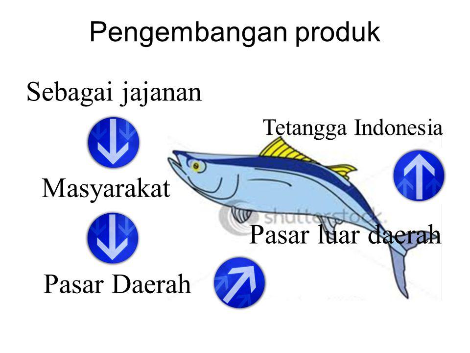 Pengembangan produk Sebagai jajanan Masyarakat Pasar Daerah Pasar luar daerah Tetangga Indonesia