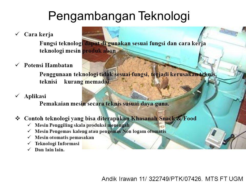 Maturnuwun Andik Irawan 11/ 322749/PTK/07426. MTS FT UGM