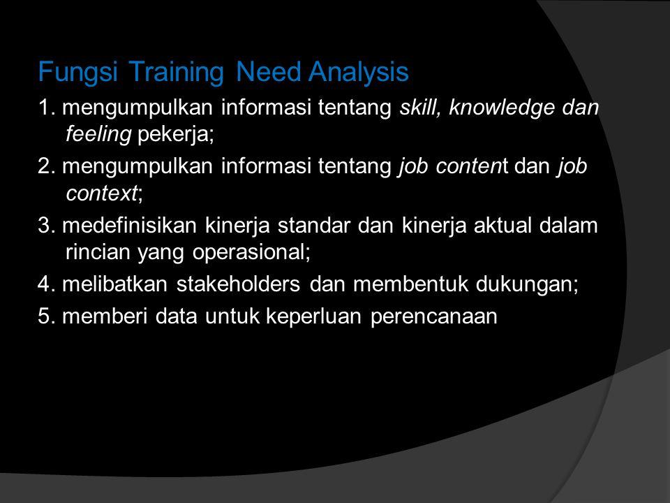 Fungsi Training Need Analysis 1.