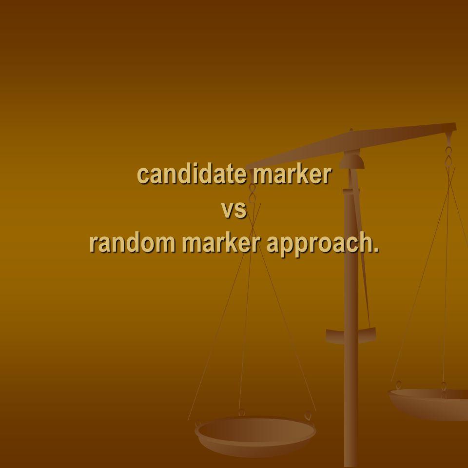 candidate marker vs random marker approach.