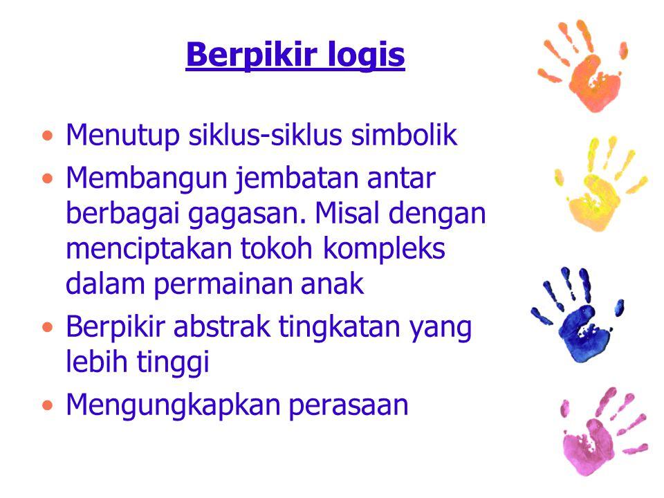 Berpikir logis Menutup siklus-siklus simbolik Membangun jembatan antar berbagai gagasan.