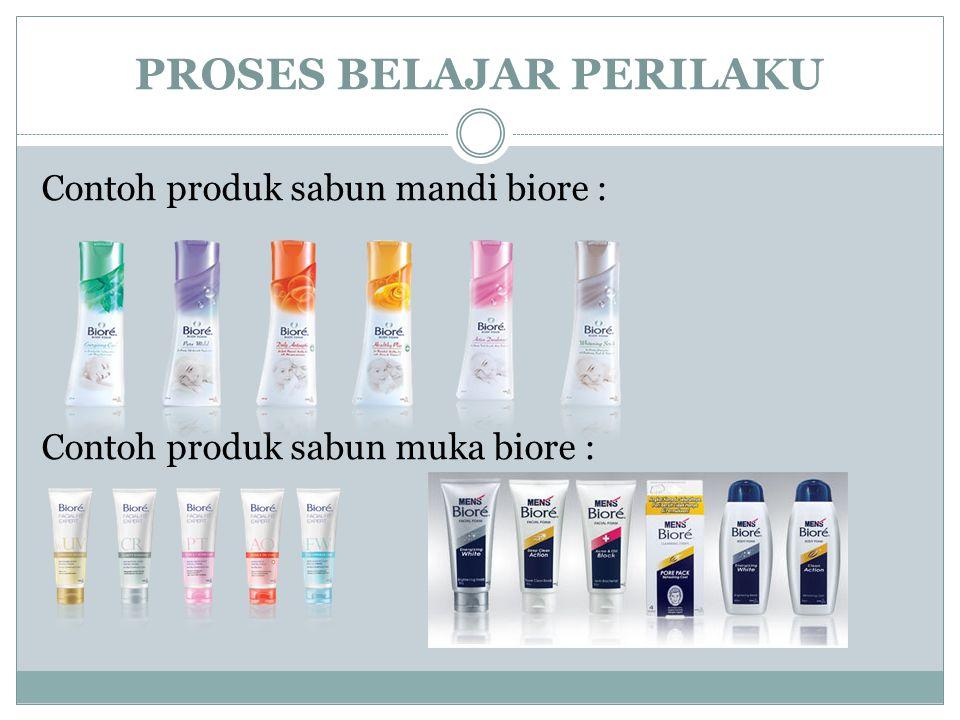 Contoh produk sabun mandi biore : Contoh produk sabun muka biore :