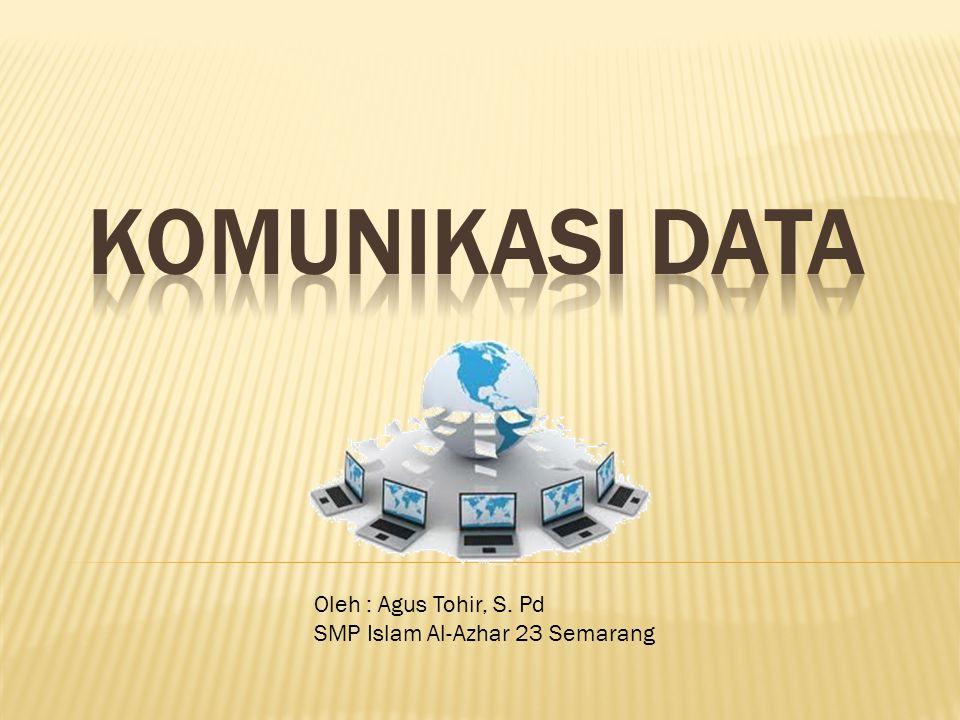  Komunikasi data merupakan bagian dari telekomunikasi yang secara khusus berkenaan dengan transmisi atau pemindahan data dan informasi diantara komputer dan piranti-piranti yang lain dalam bentuk digital yang dikirimkan melalui media komunikasi data.