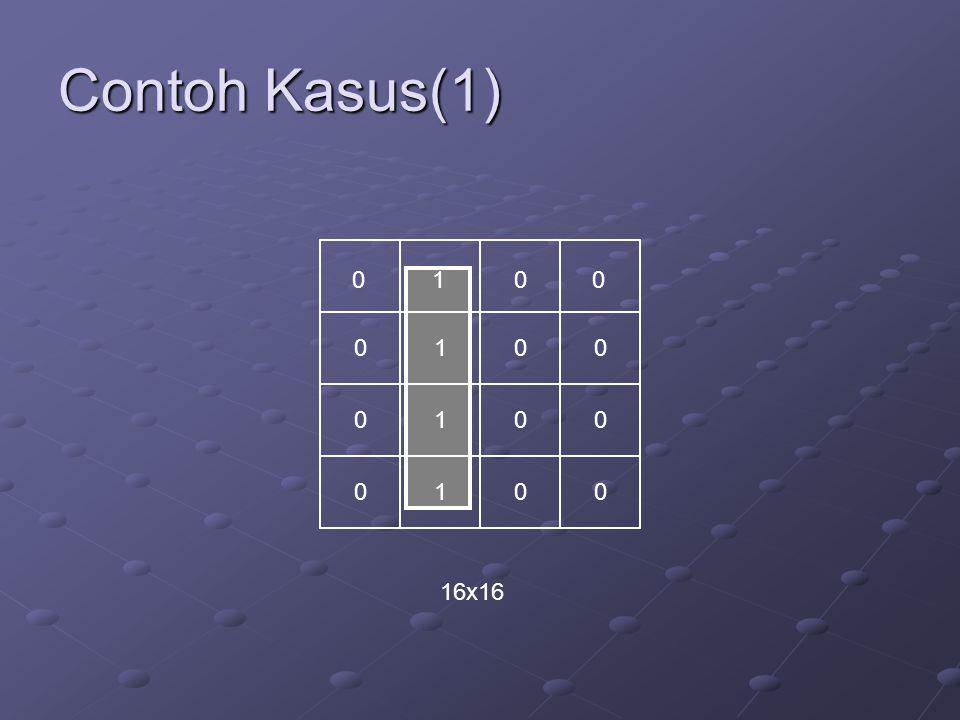 Contoh Kasus(1) 01 0 0 0 0 0 0 0 0 0 0 0 1 1 1 16x16