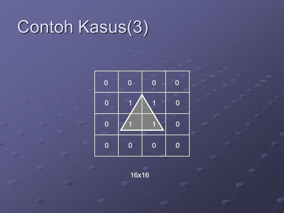 Contoh Kasus(3) 00 0 0 0 0 0 0 0 0 1 1 0 1 1 0 16x16