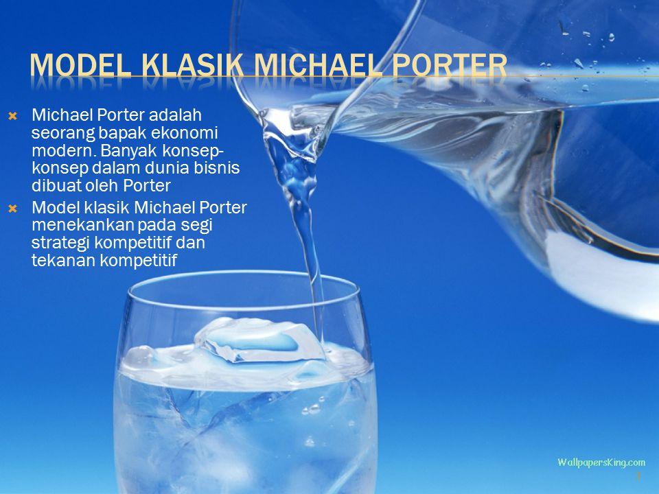  Michael Porter adalah seorang bapak ekonomi modern.